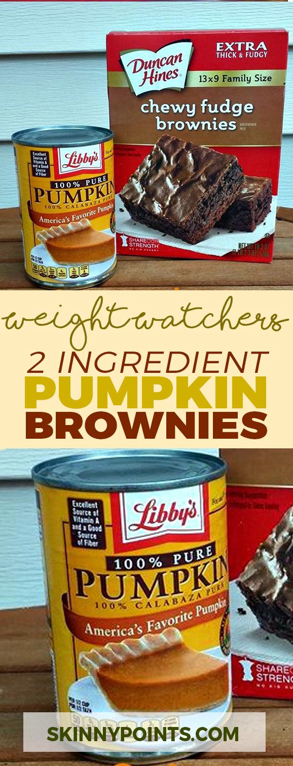 2 Ingredient Pumpkin Brownies