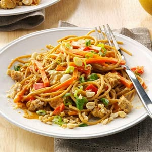 Peanut Noodles With Chicken