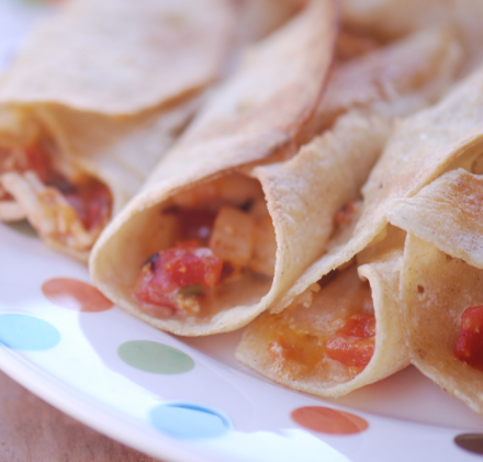 Turkey Taquitos with Cranberry Salsa (3 pointplus)
