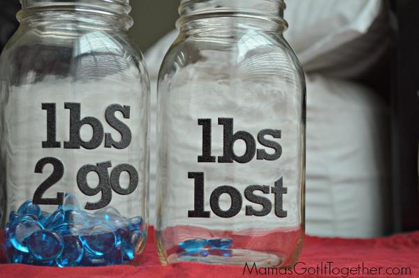 DIY Weight Loss Motivation Jars