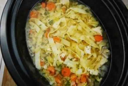 Crock Pot Chicken Noodle Soup Recipe