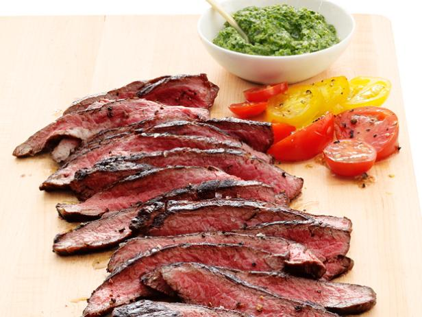 Grilled Flank Steak with Marjoram Salsa Verde – 4 Smartpoints