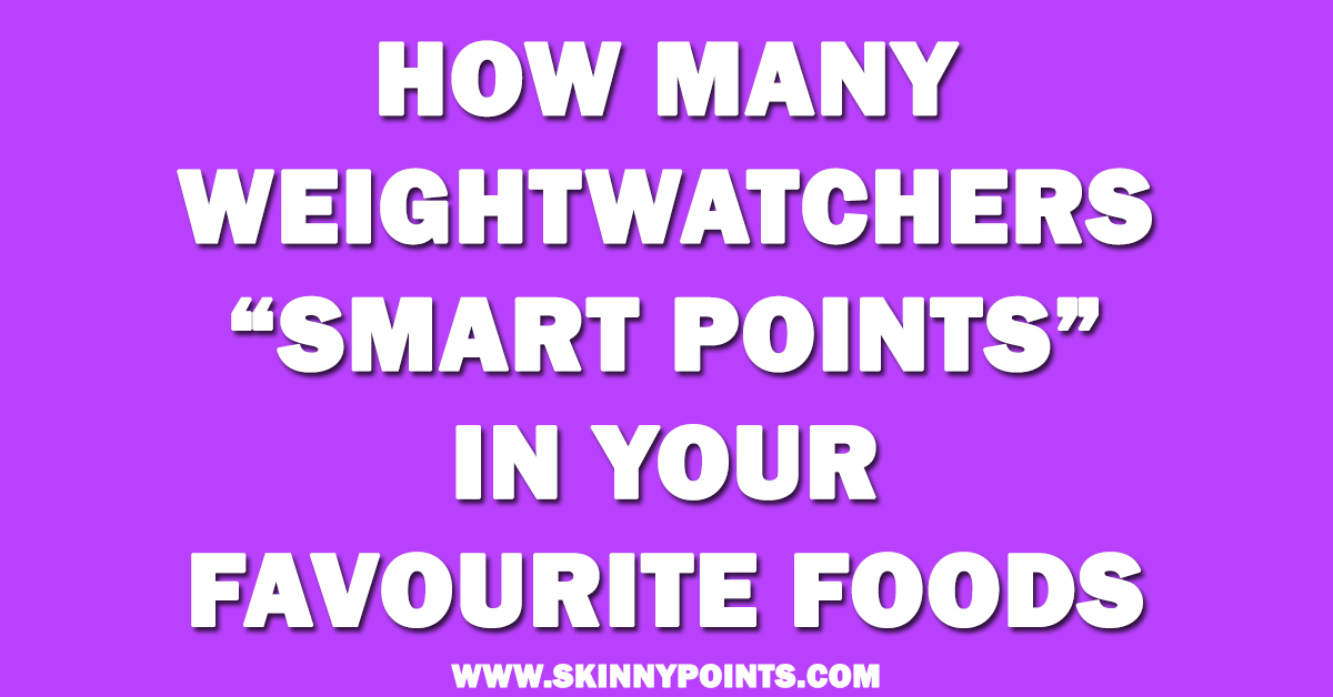 how many weightwatchers smart points in your favourite foods. Black Bedroom Furniture Sets. Home Design Ideas