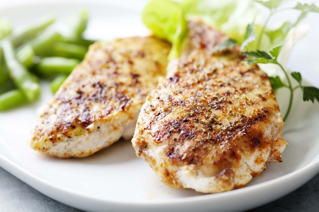 Grilled Chicken Breasts with Fresh Herbs