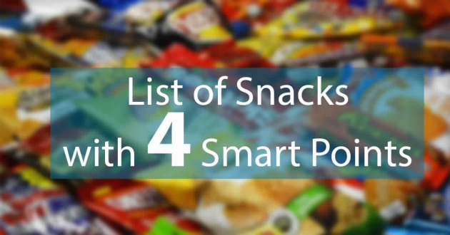 Snacks with 4 Weight Watchers Smart Points