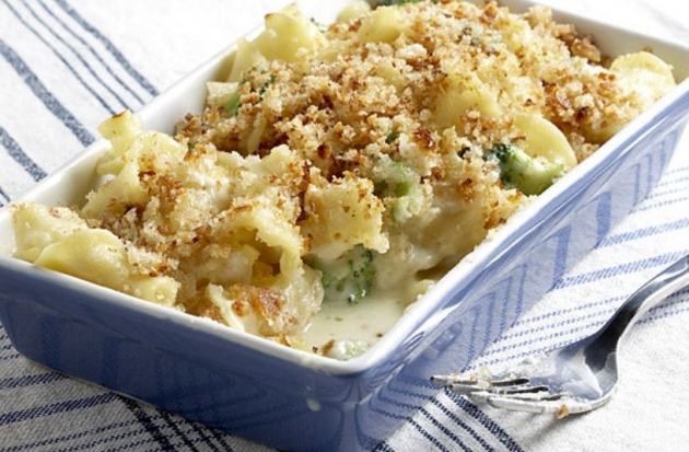 Baked Mac and Cheese with Broccoli