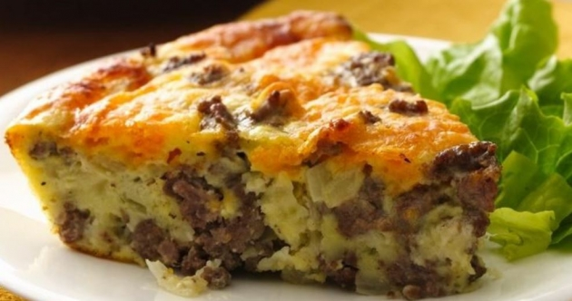 Easy And Simple Cheeseburger Pie