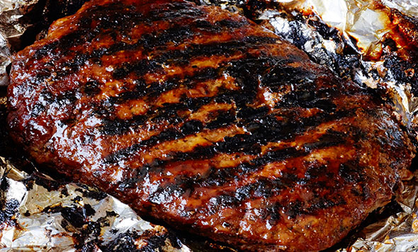 Grilled Barbecue Meat Loaf