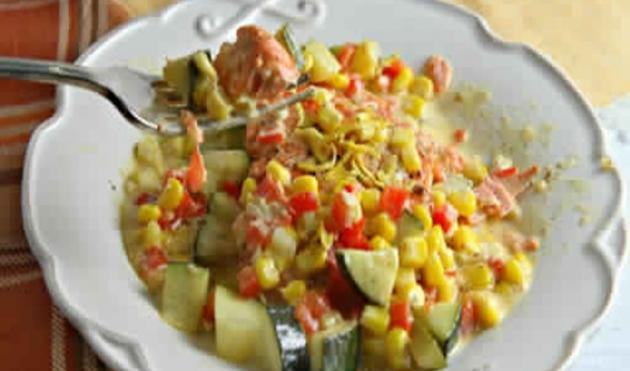 Zucchini & Corn in Cream