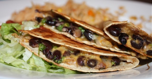 Vegan Black Bean And Cilantro Quesadillas