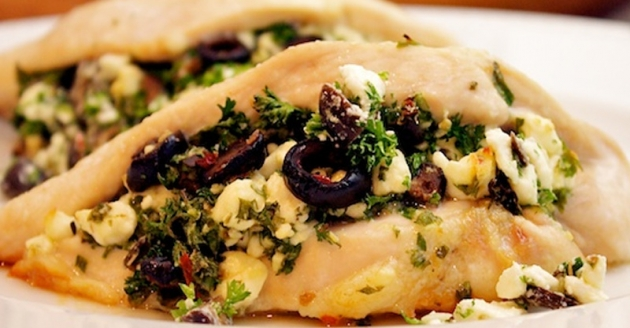 Greek Stuffed Chicken Breasts (Slow Cooker)