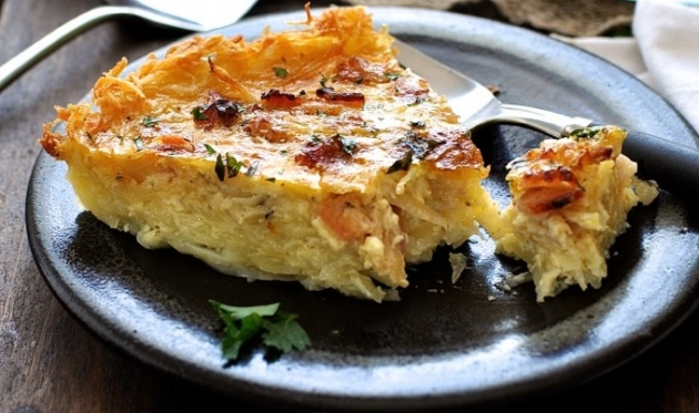 HASH BROWN CRUST QUICHE LORRAINE
