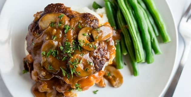 Lightened-Up Salisbury Steak