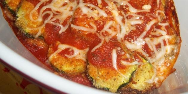 Skinny Zucchini Parmesan