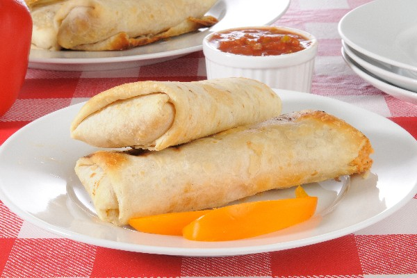 Baked Turkey and Jack Cheese Chimichangas (Weight Watchers)