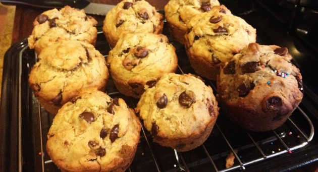 Yummy Chocolate Chip Muffin