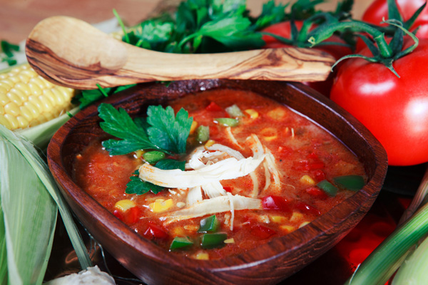 2 Points Slow Cooker Chicken Tortilla Soup