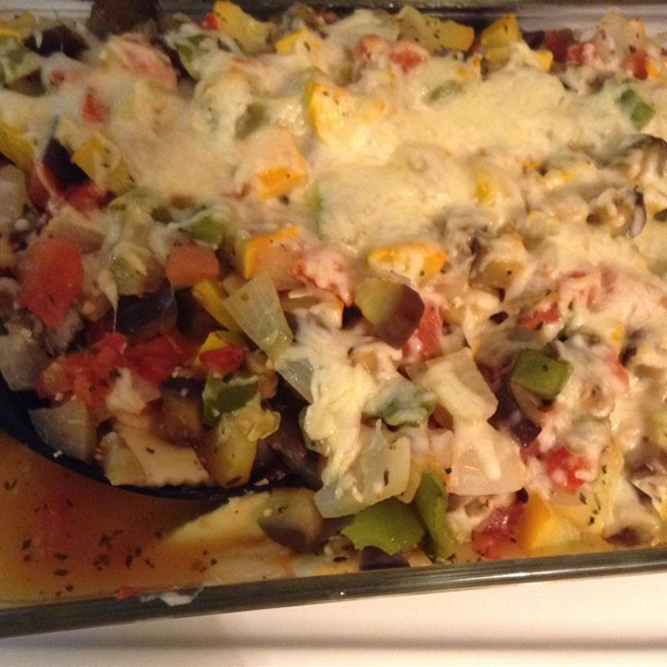 3 Smart Points Ratatouille with havarti cheese Cassrole