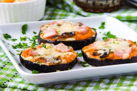 20 Min Ready Eggplant Pizzas