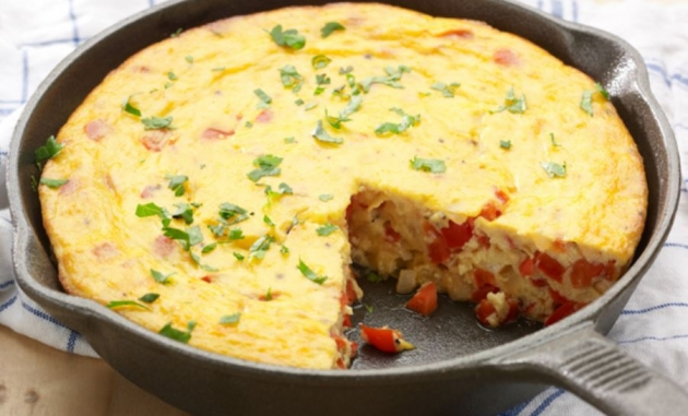 Pepper and Onion Frittata