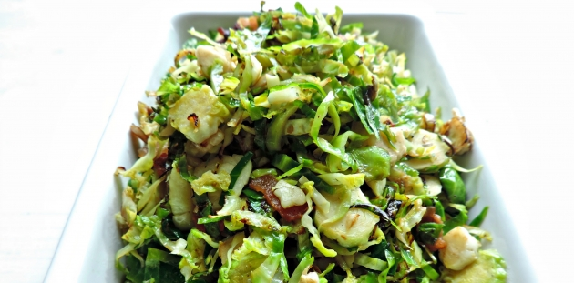 Warm Bacon-Balsamic Brussels Sprouts