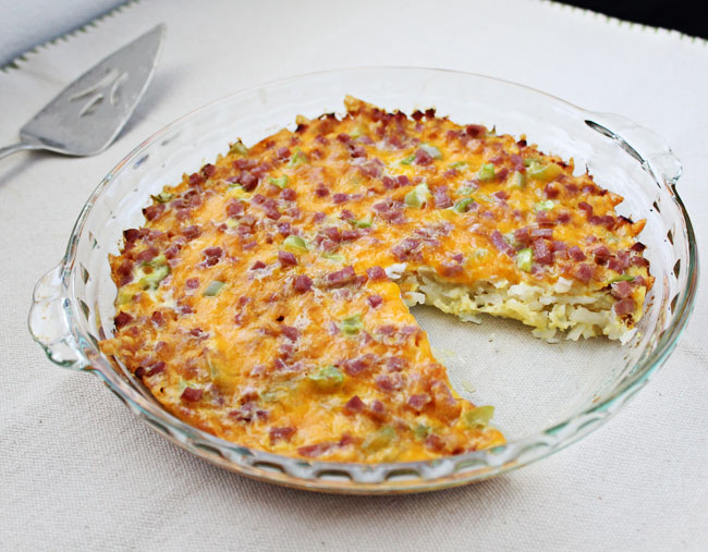 Ham & Cheese Hash Brown Quiche