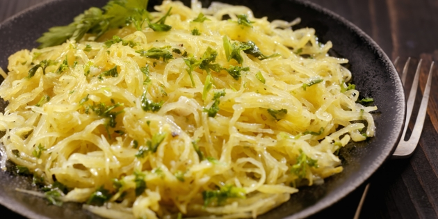 Spaghetti Squash Recipe with Garlic Butter