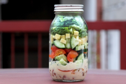 Cobb Salad in a Jar with Buttermilk Ranch