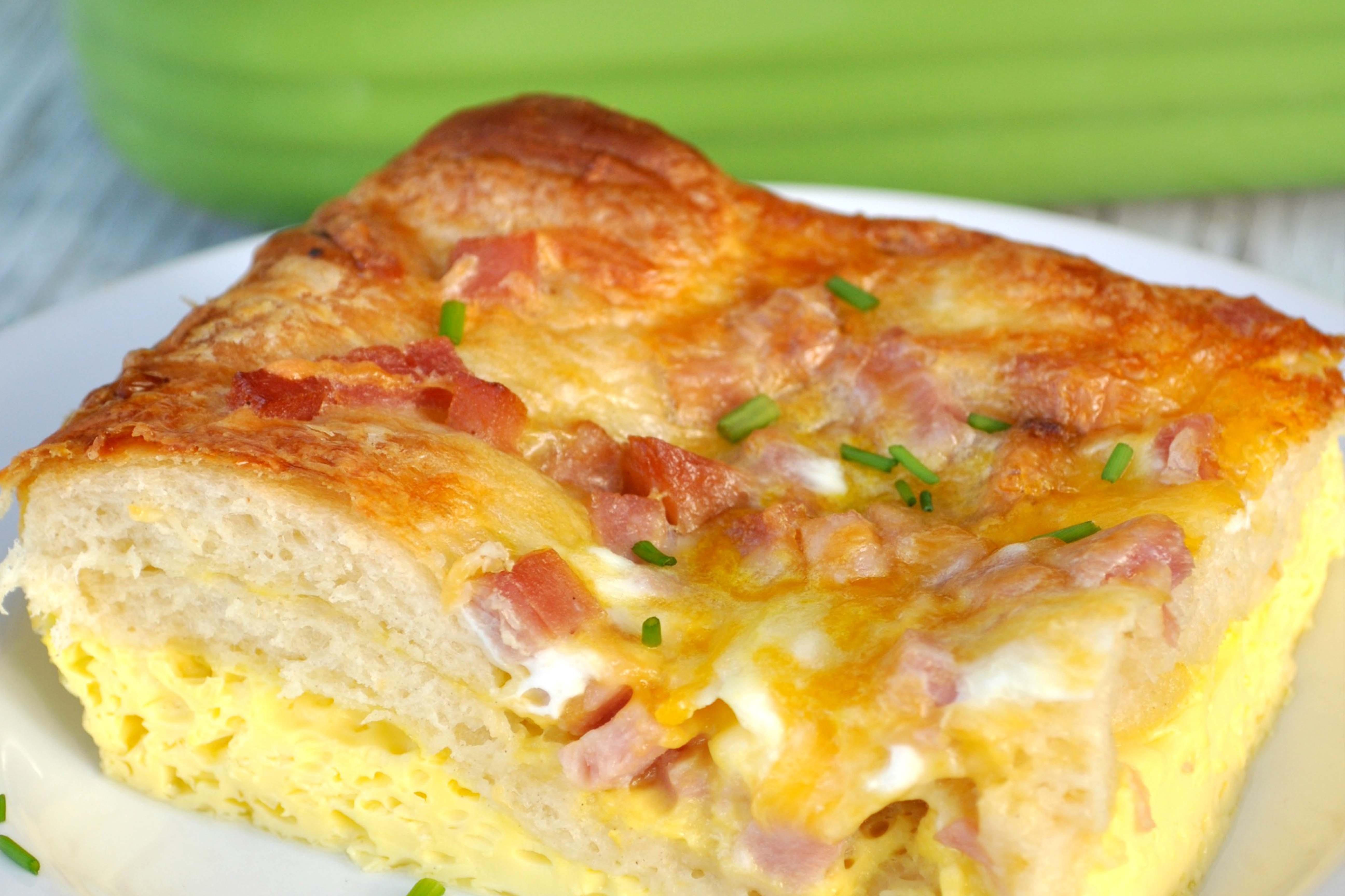 Veggie Ham Egg & Cheese Bake Recipe