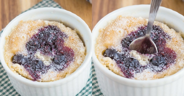 Healthy 1 minute Blueberry Muffin