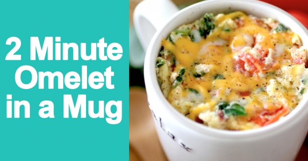 2 Minute Omelet in a Mug