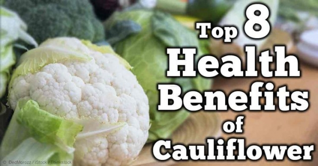 Top 8 Health Benefits Of Cauliflower