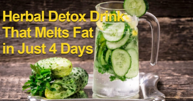 An Amazing Herbal Detox Drink That Melts Fat In Just 4 Days