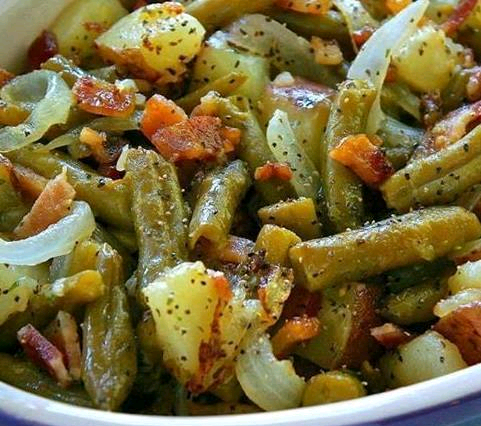 Country Ranch Green Beans'n Potatoes With Bacon.