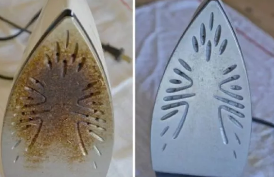THIS IS HOW YOU CLEAN YOUR BURNED IRON AND MAKE IT LOOK LIKE NEW