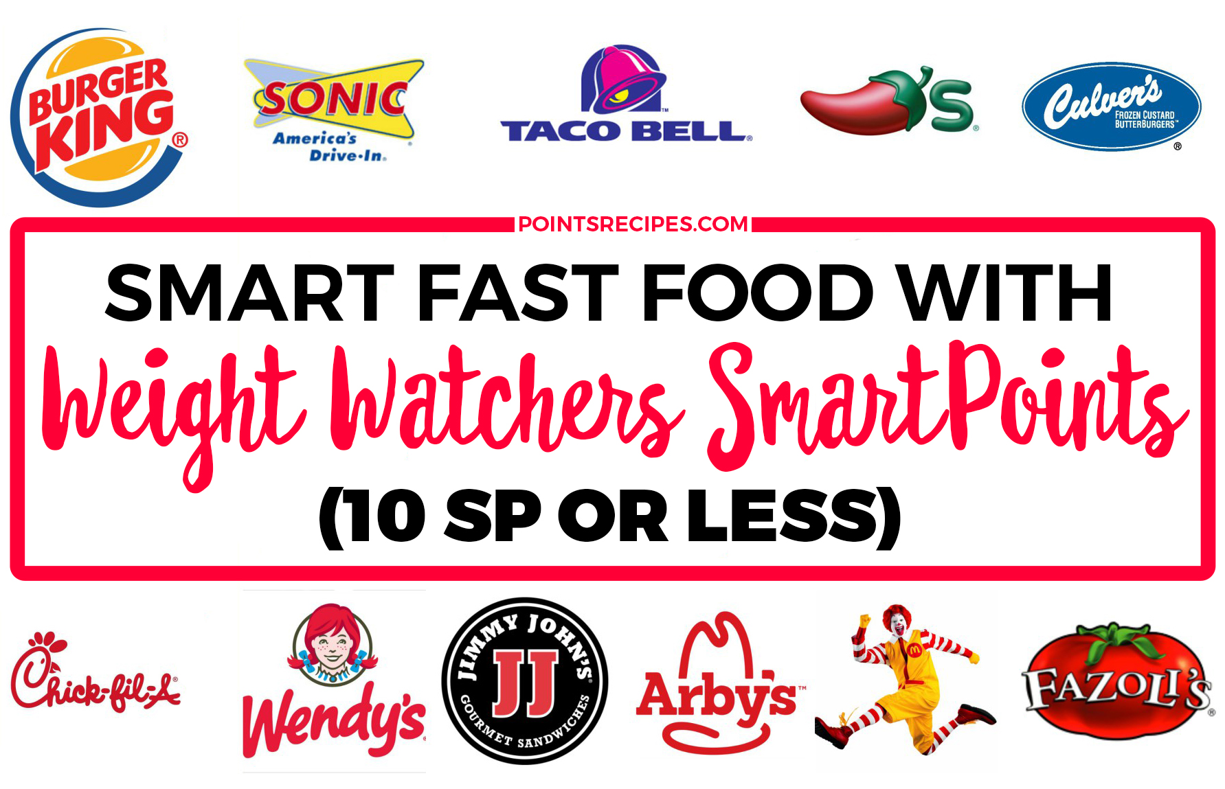 Fast food list with weight watchers smartpoints for Chick fil a fish sandwich 2017