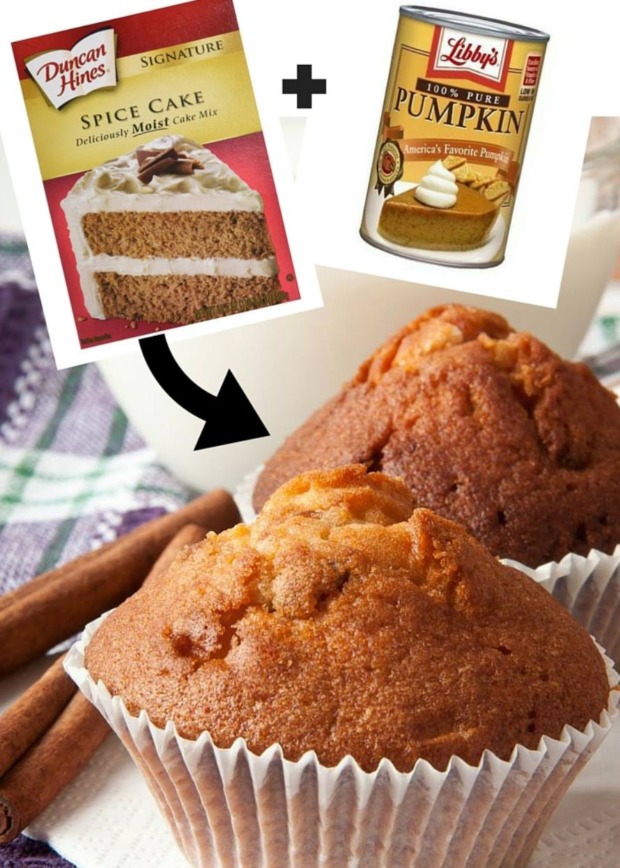 how to make muffins from cake mix