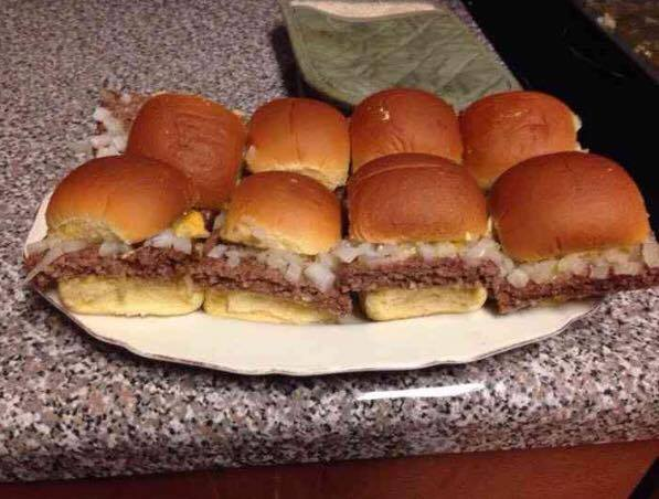White castle sliders for White castle double fish slider with cheese